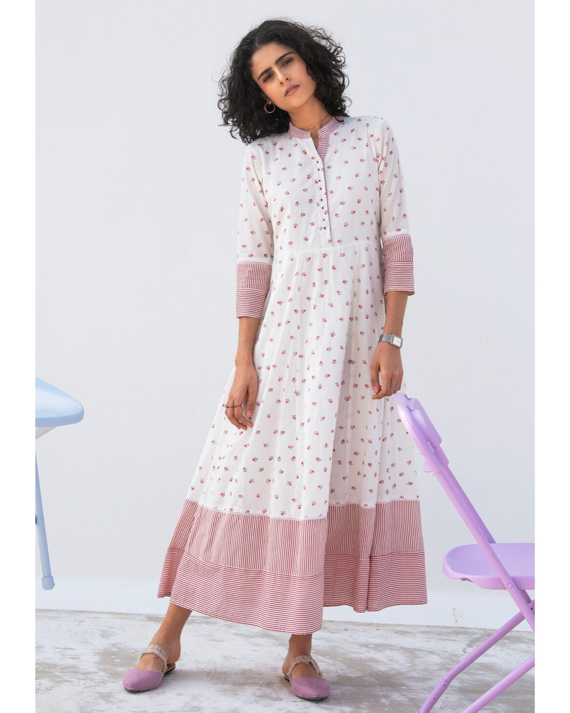 Mallow tiered maxi dress
