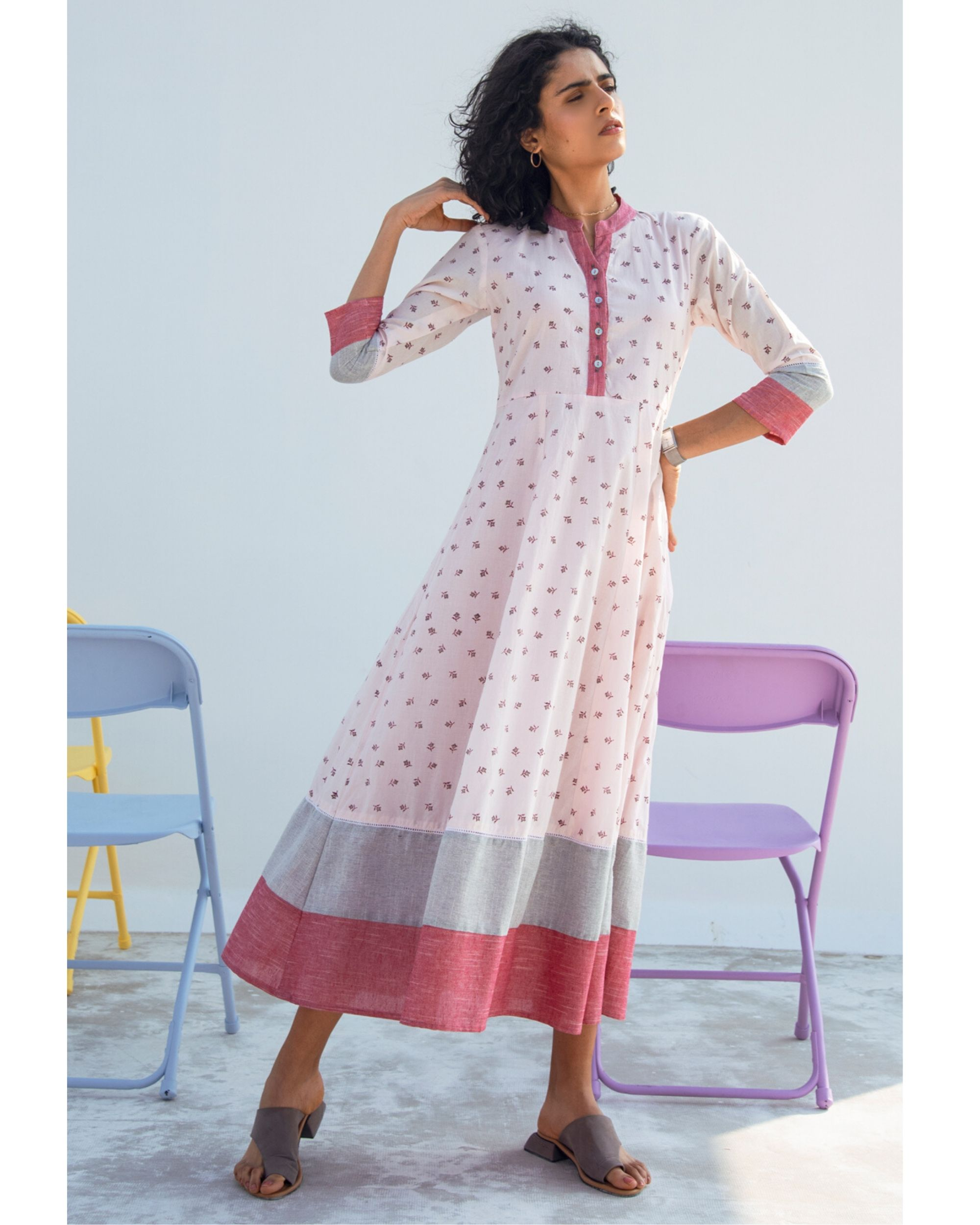 Sage tiered maxi dress