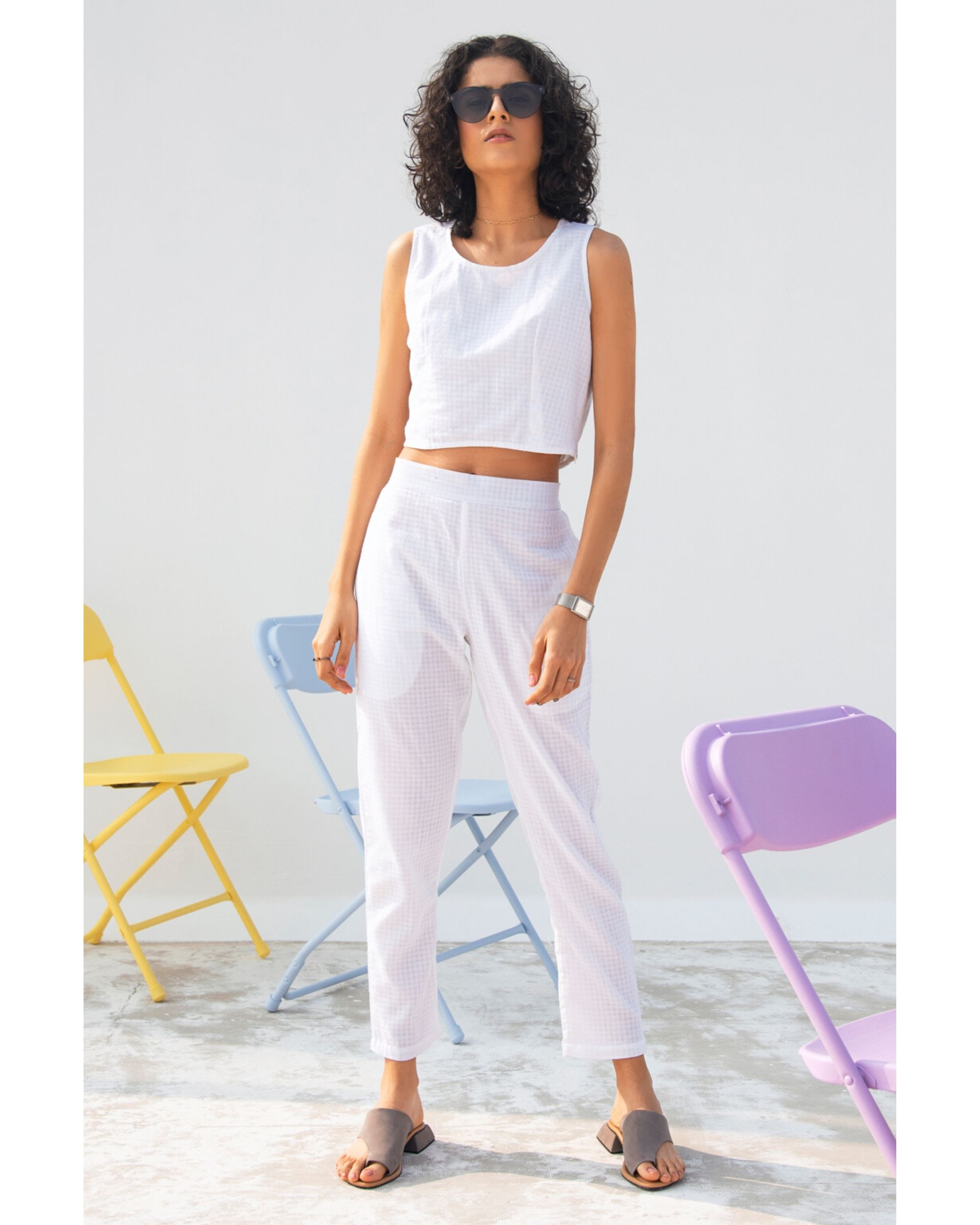 Lily crop top and pants- Set Of Two
