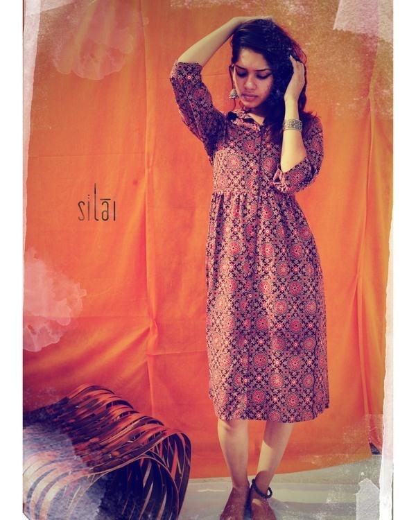 Ajrakh printed dress