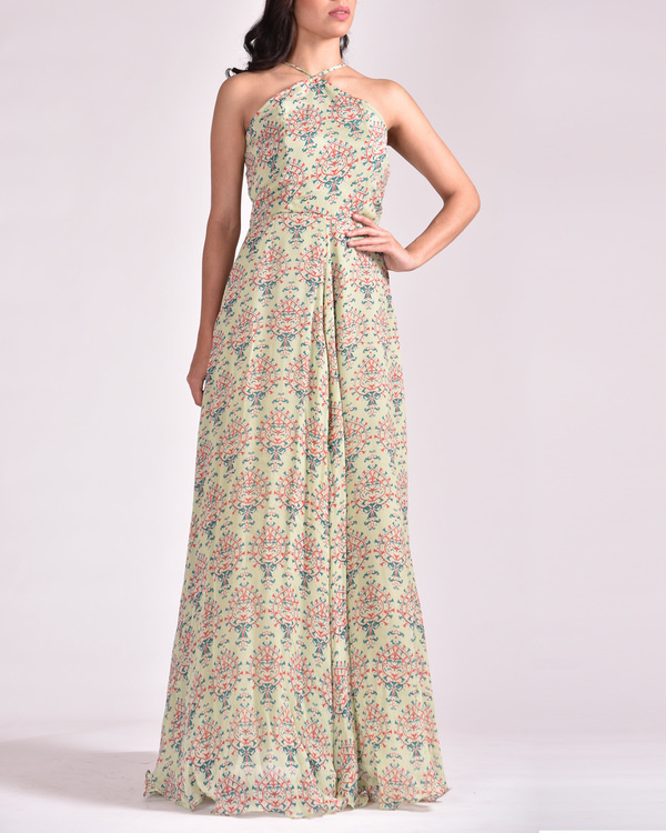 Pastel green koashee classic dress