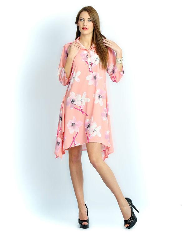 Blush pink long a-line shirt