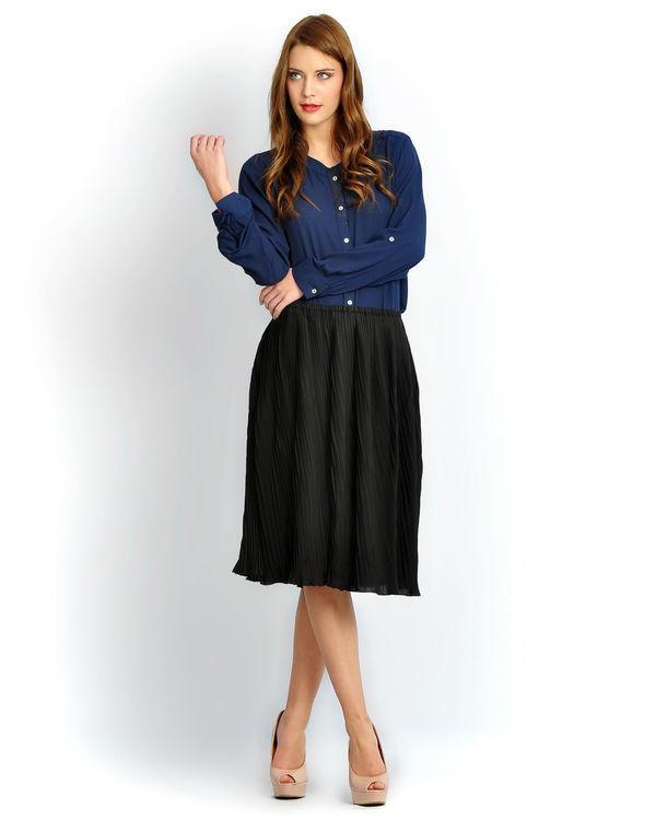 Solid black skirt
