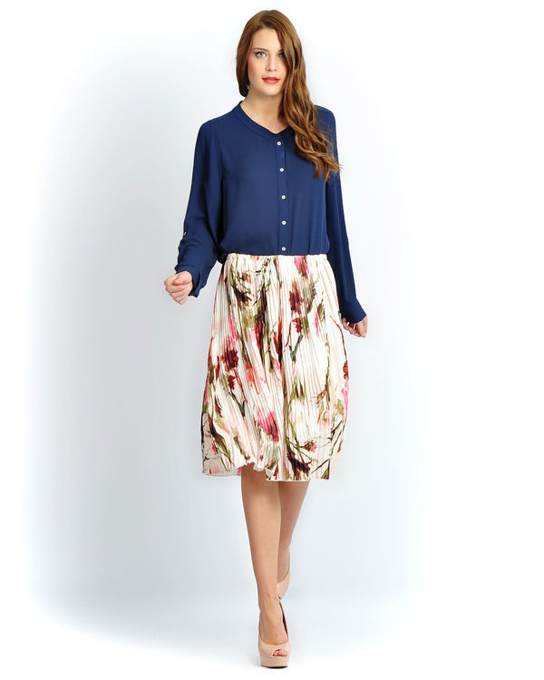 Ivory floral skirt