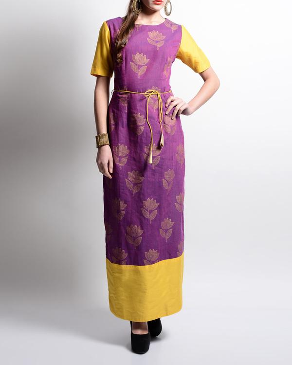 Lotus printed maxi dress