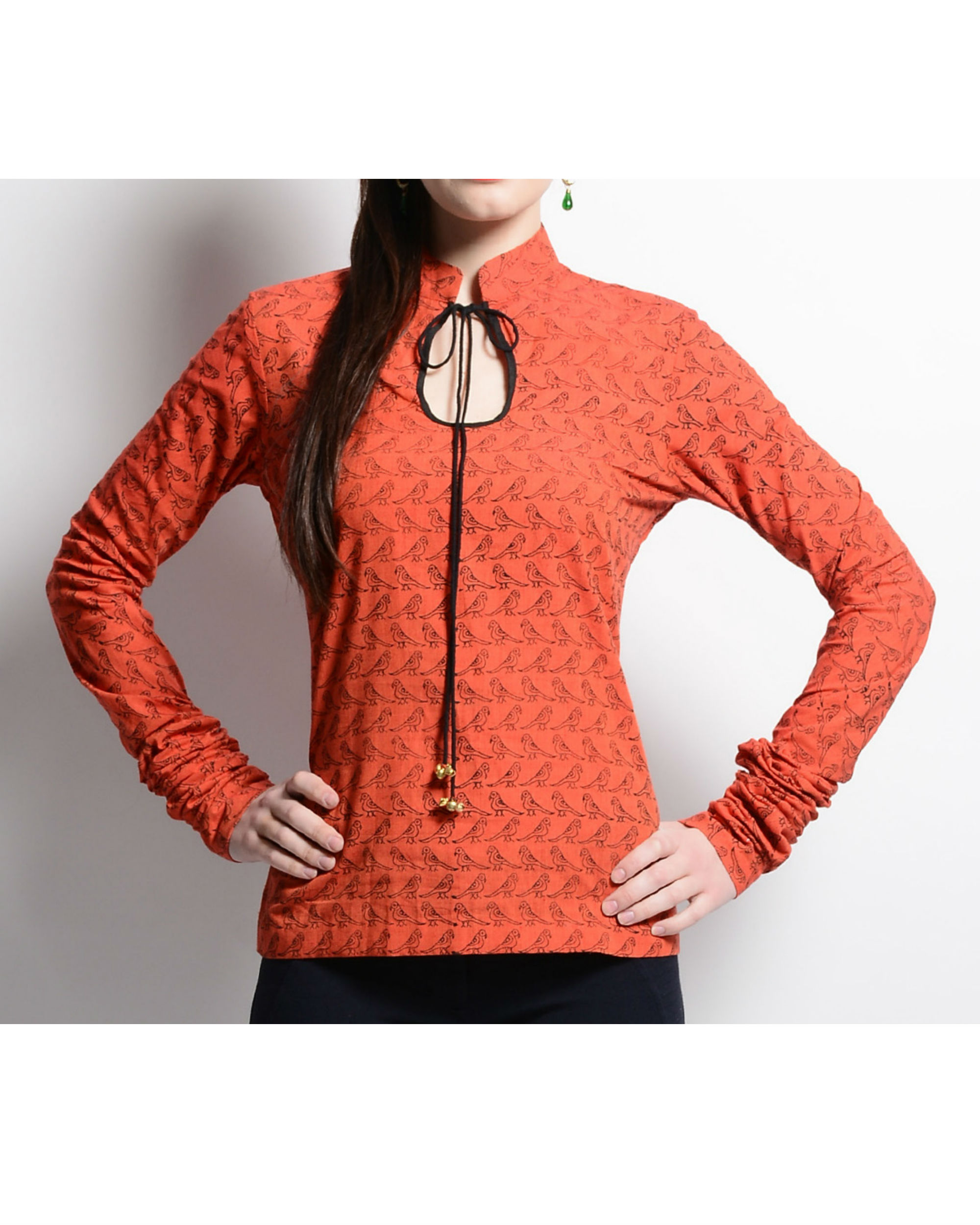 Orange manglagiri top