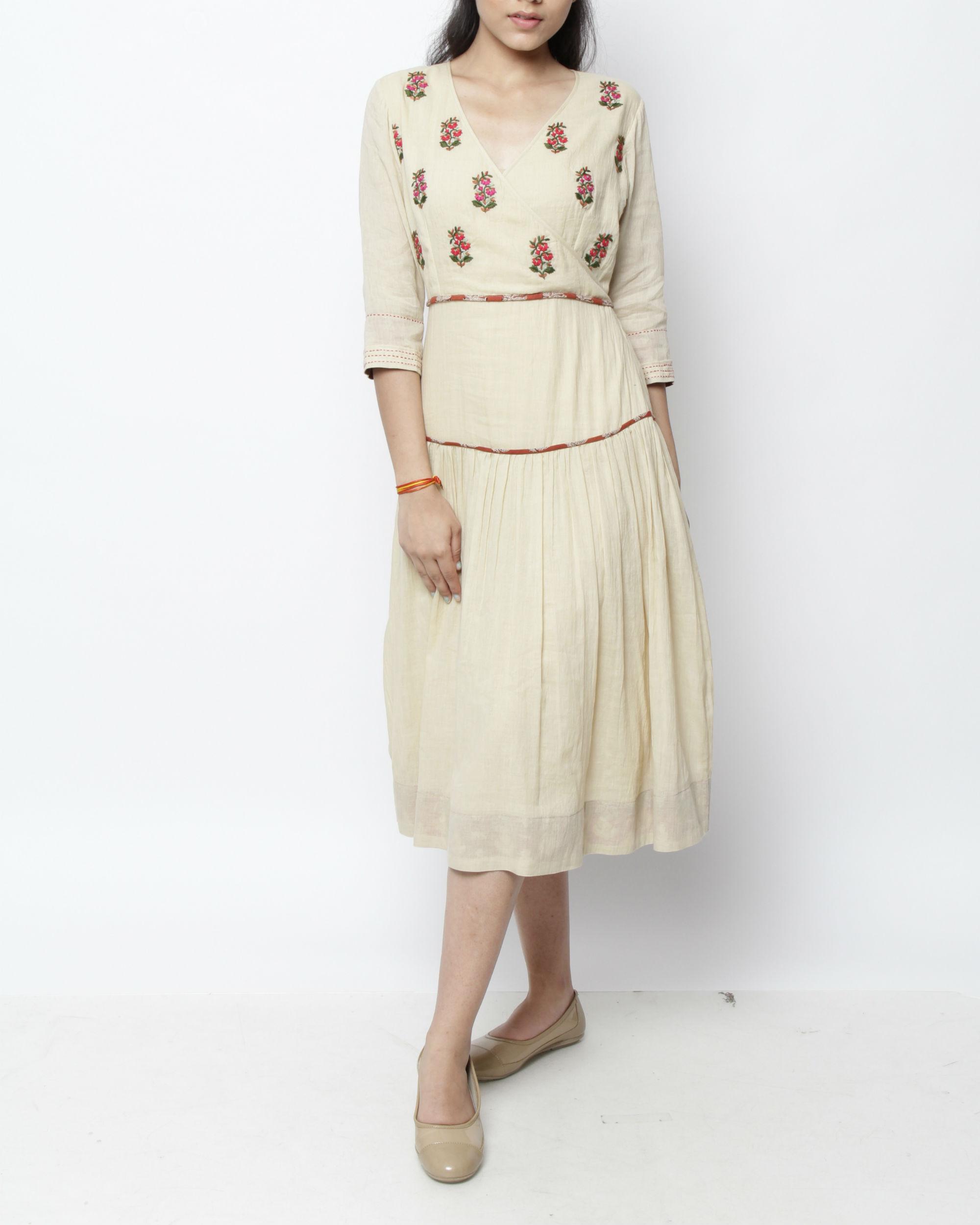 Vintage embroidered kora dress