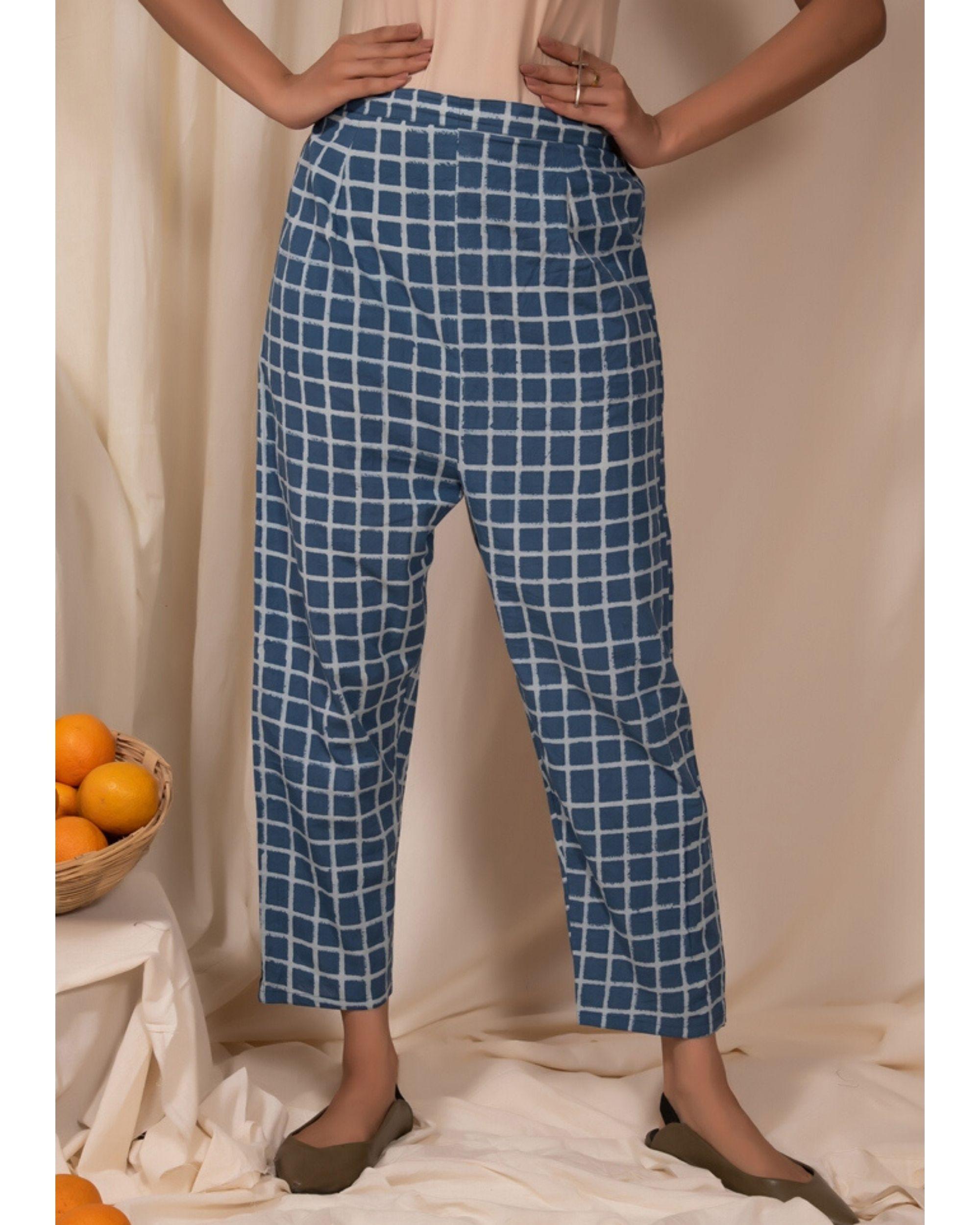 Blue checkered pants