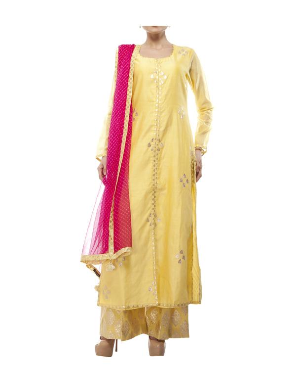 Yellow Chanderi kurta set