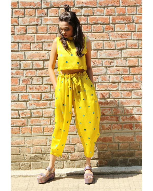 Yellow baloon pants