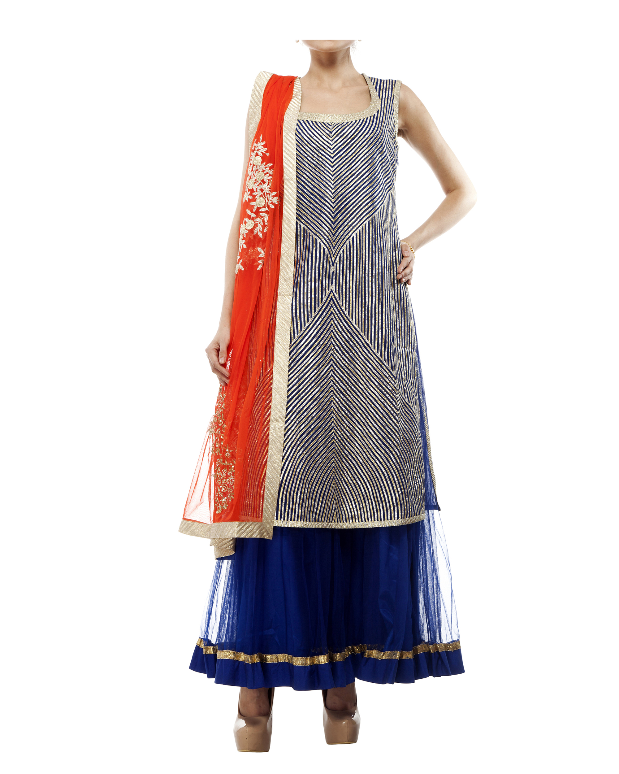 Blue Gotasheen kurta set