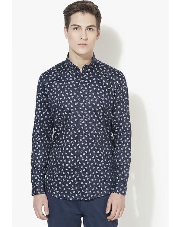 Blue ambi printed casual shirt
