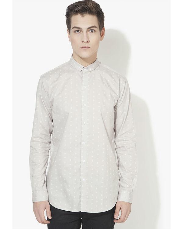 Grey tribal printed casual shirt