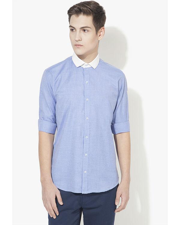 Executive collar solid casual shirt