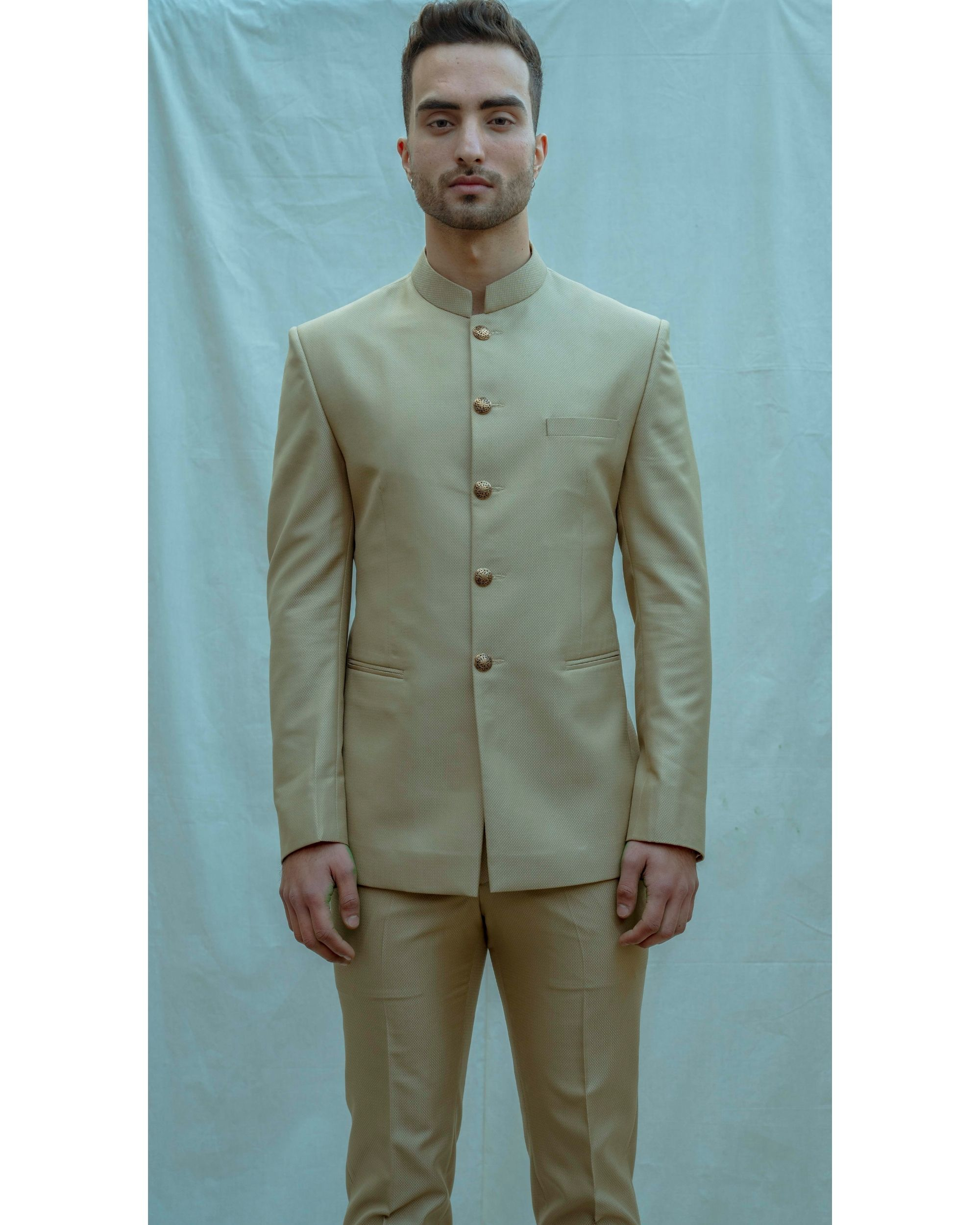 Beige bandgala with shirt and pants - Set Of Three