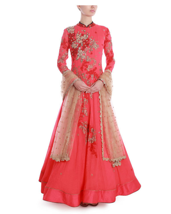 Rose of sharon floor length kaidaar