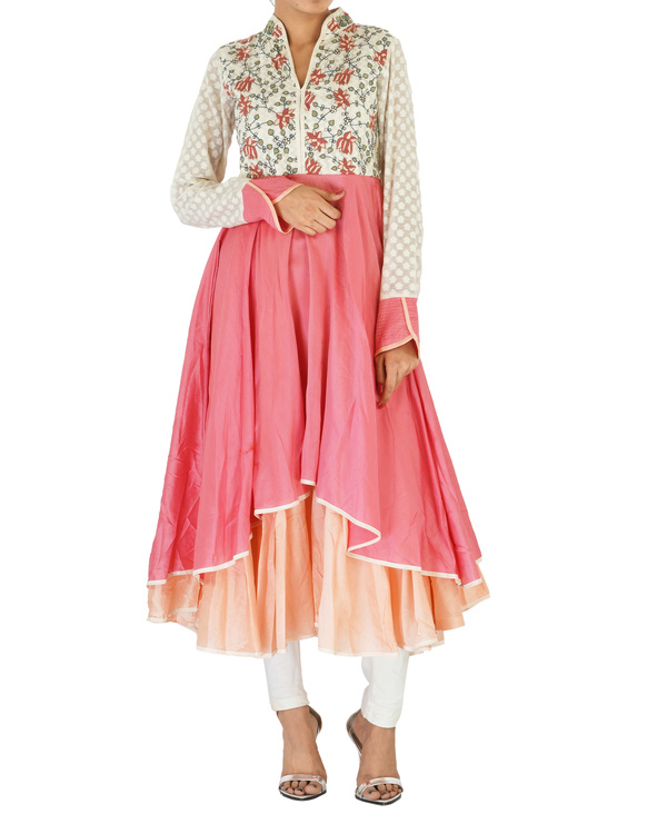 Double layered chanderi tunic