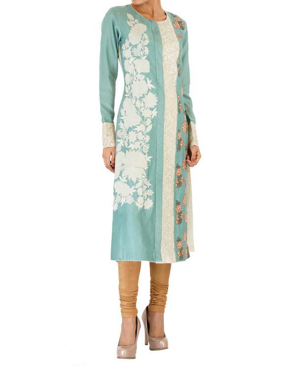 Ashblue straight chanderi kurta set