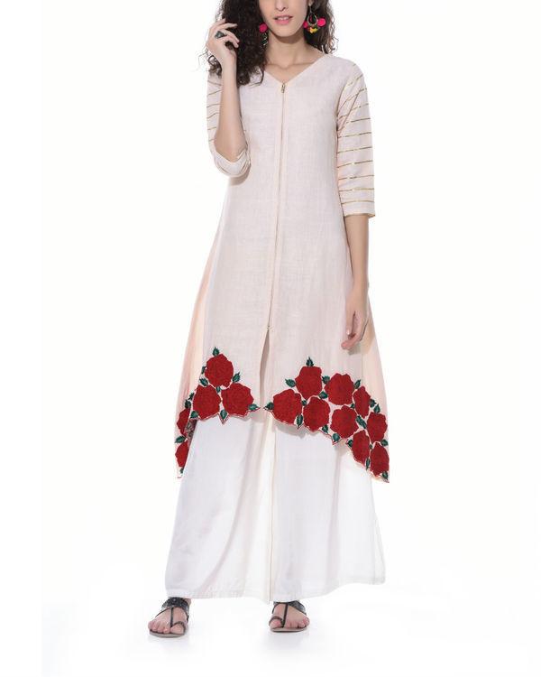 Linen floral tunic