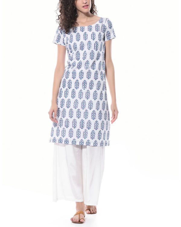 Hand printed tunic with palazzos