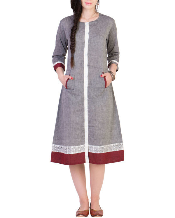 Grey mangalgiri dress