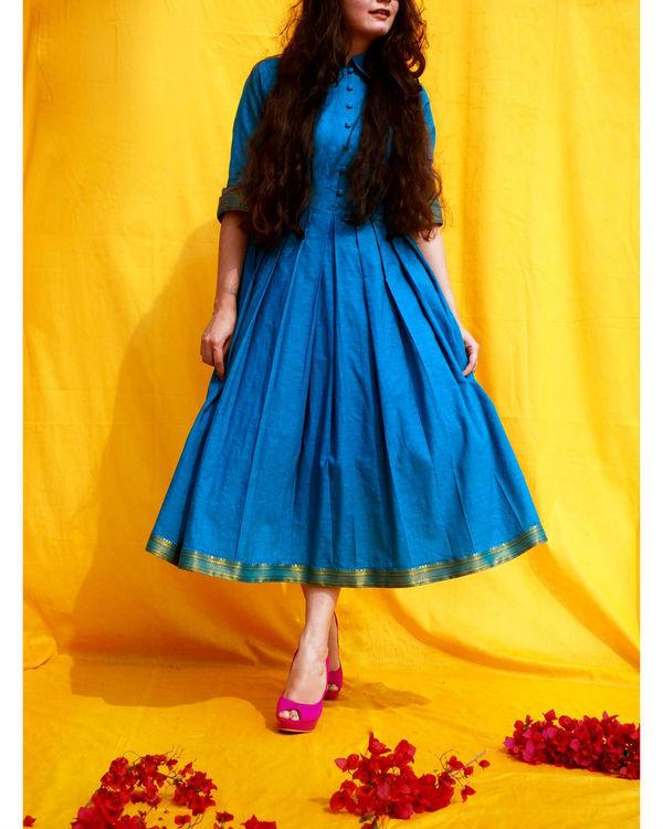 Mangalgiri blue dress