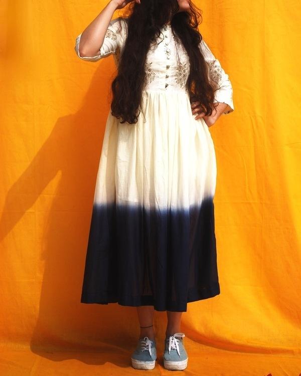 Ombre midi dress