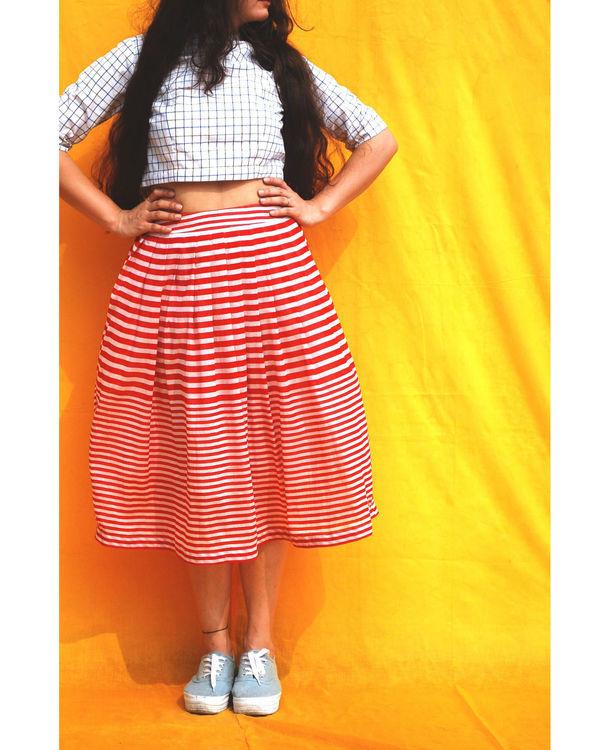 Pleated bloom skirt