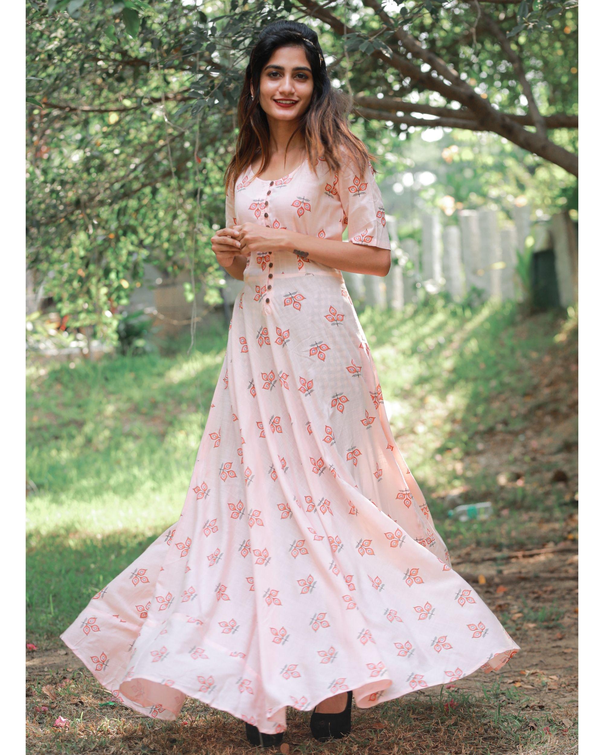 Peach magic dress