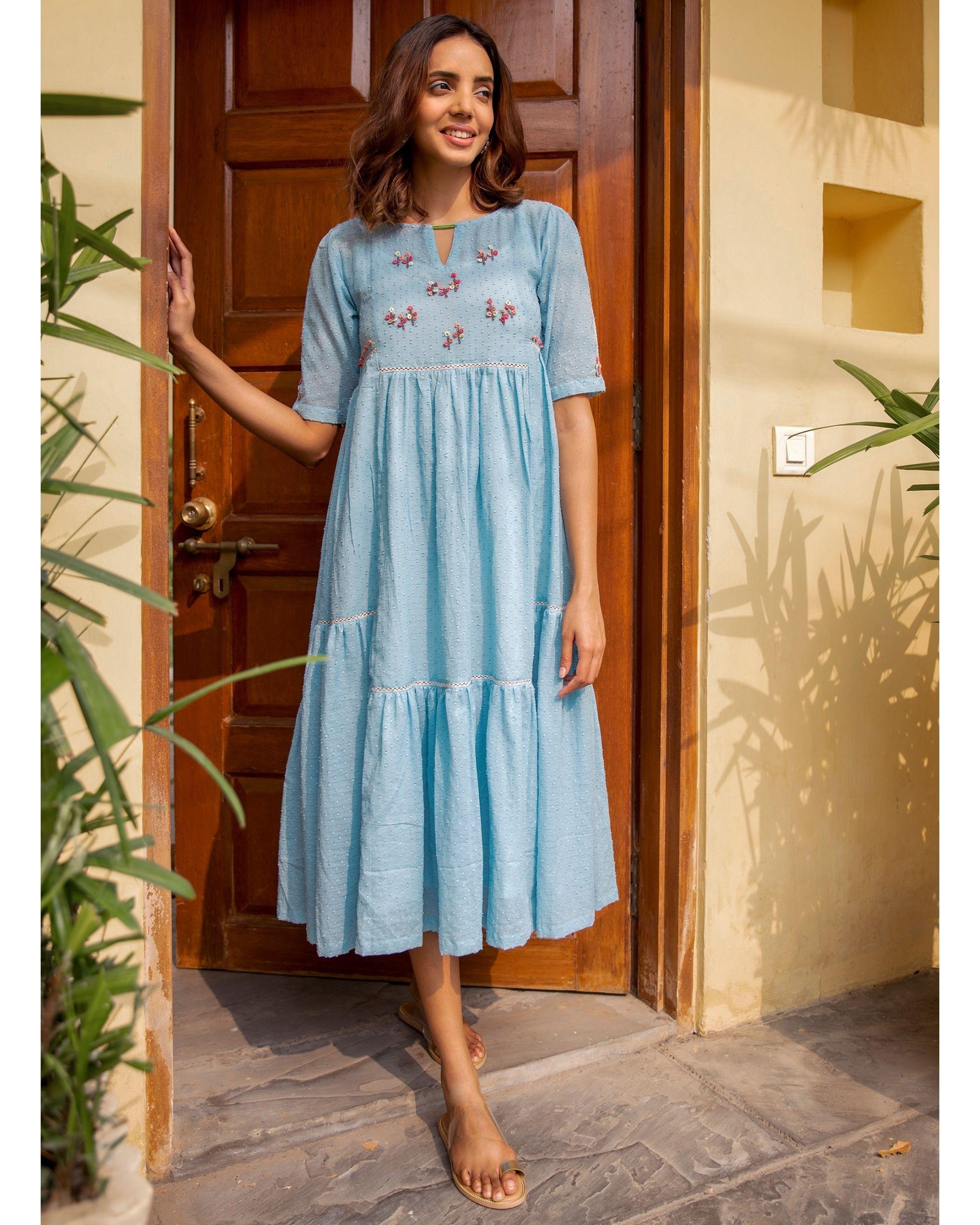 Blue poppy dress