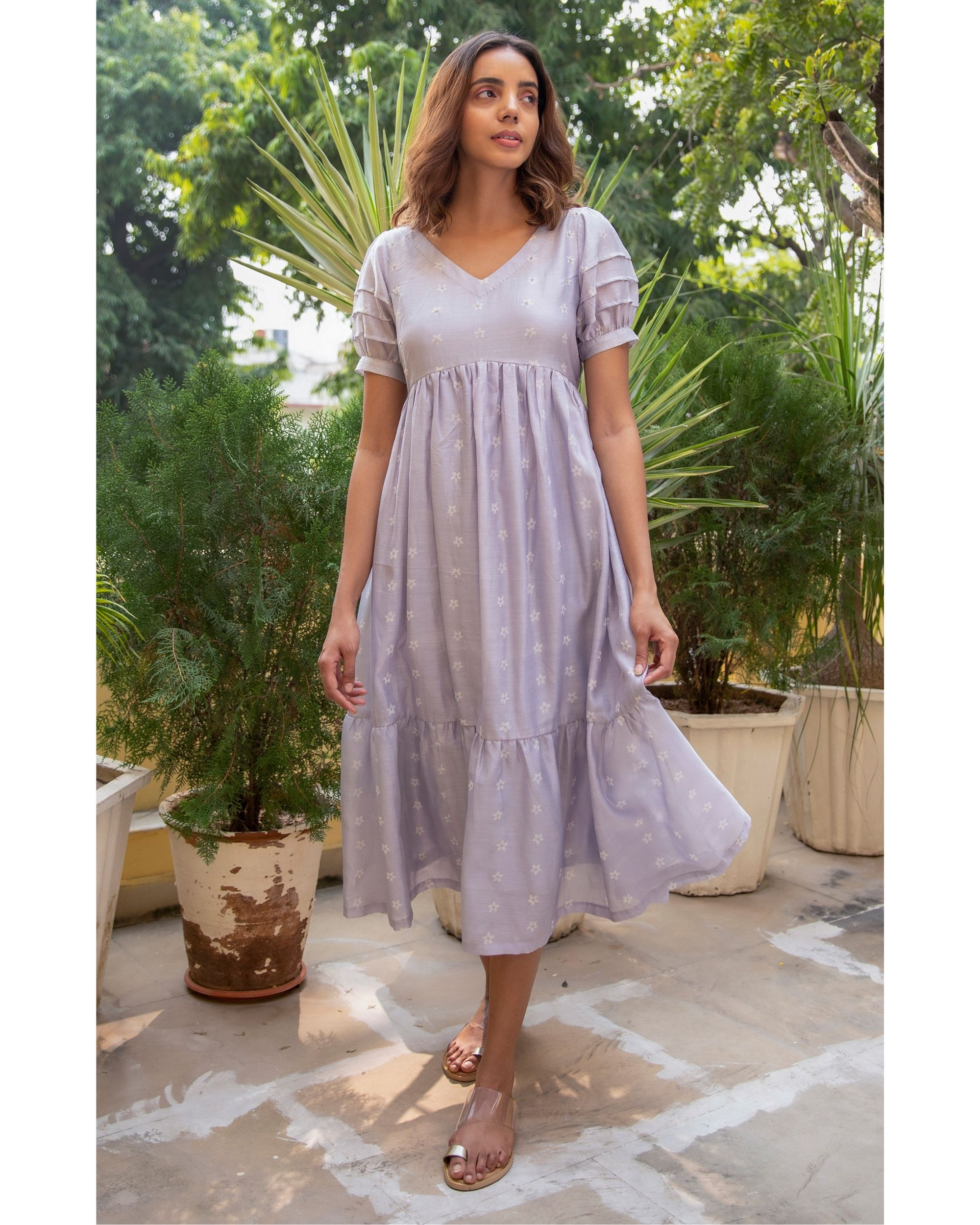 Lilac mogra dress