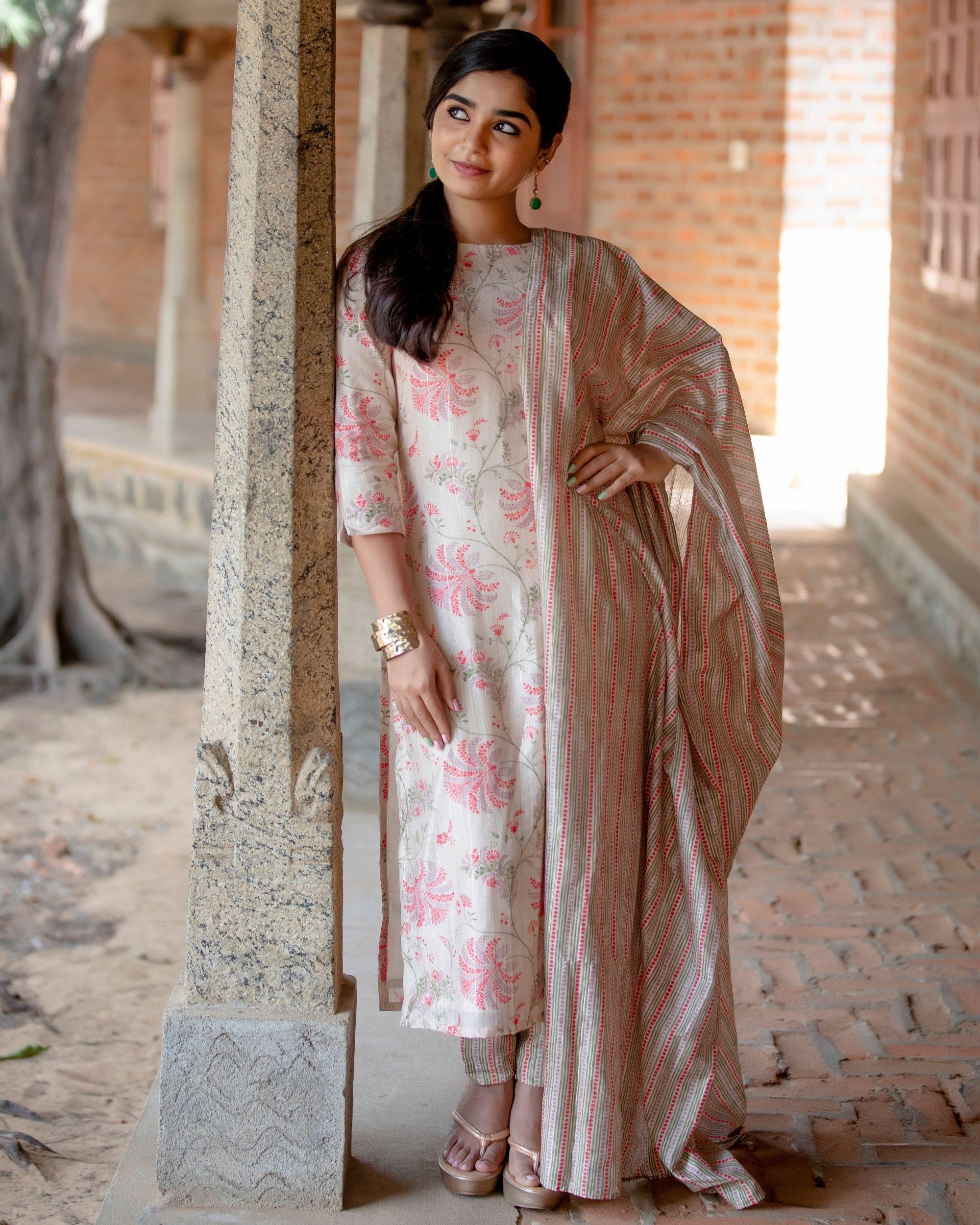 Chanderi tree suit set - set of three