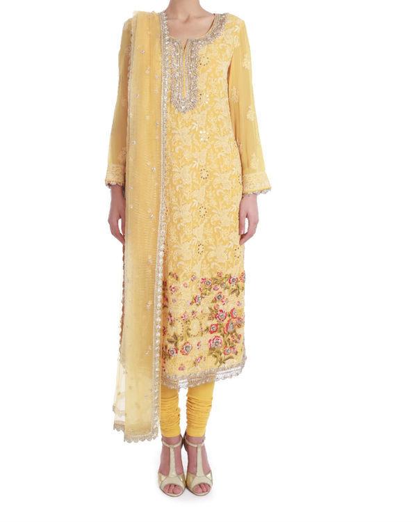 Daffodil lucknowi chikan kurta set