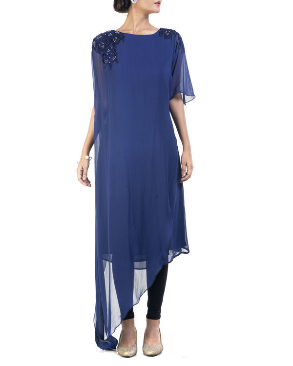 Blue double layered tunic
