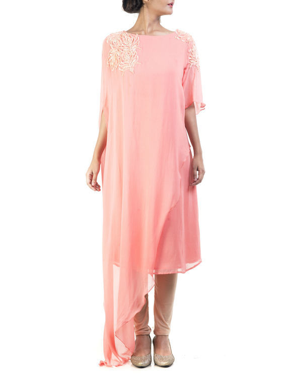 Peach double layered tunic