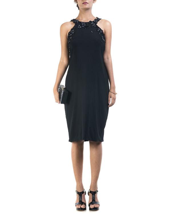 Black lycra pencil dress