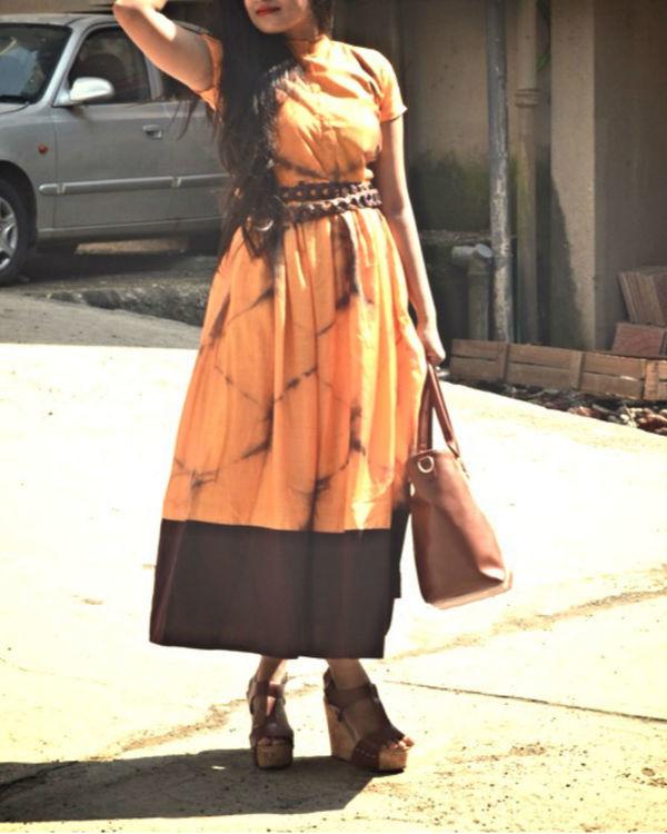 Orange tie and dye dress