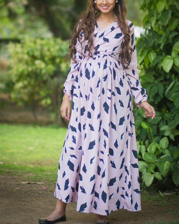 petal maternity dress