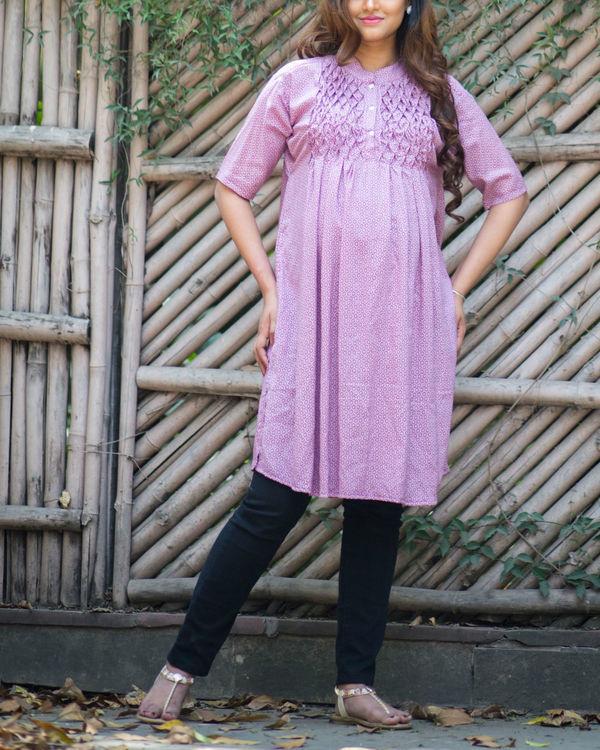 lavender maternity kurta