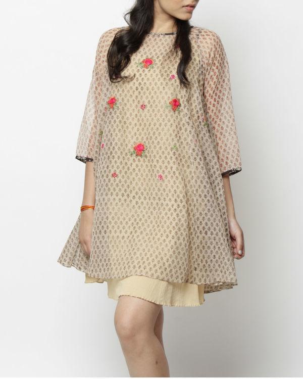 Rosette flared dress