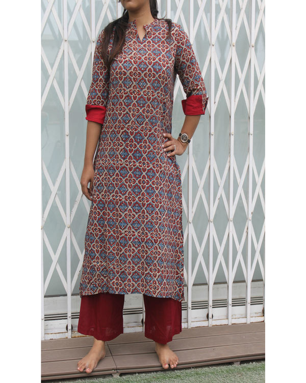 tail cut kurta with palazzos