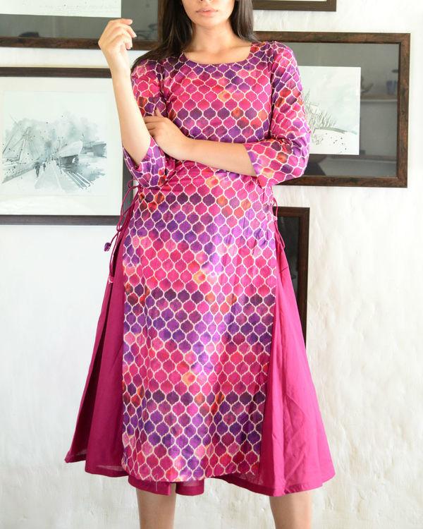 Purple double layered kurta
