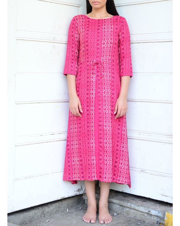 Pink double layered kurta