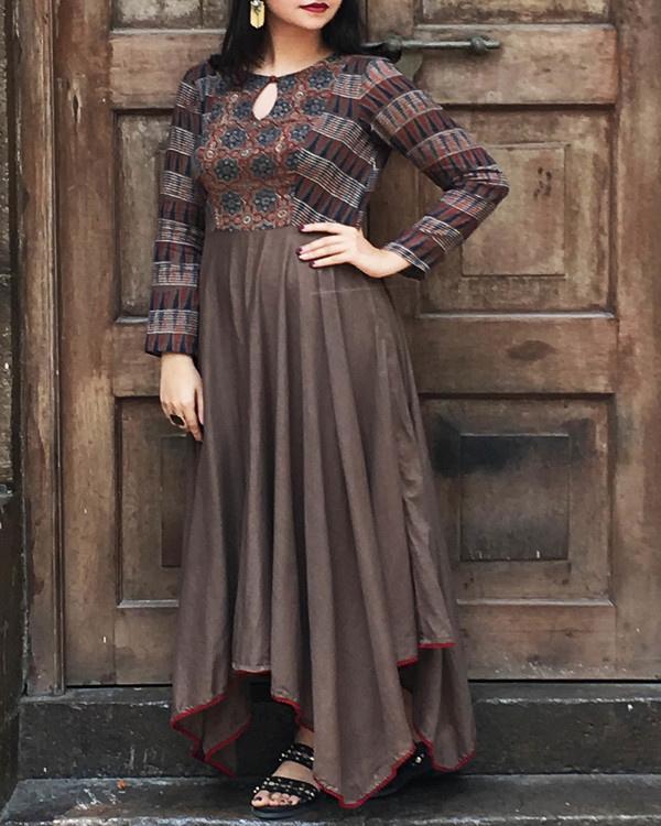 Brown hankerchief tunic