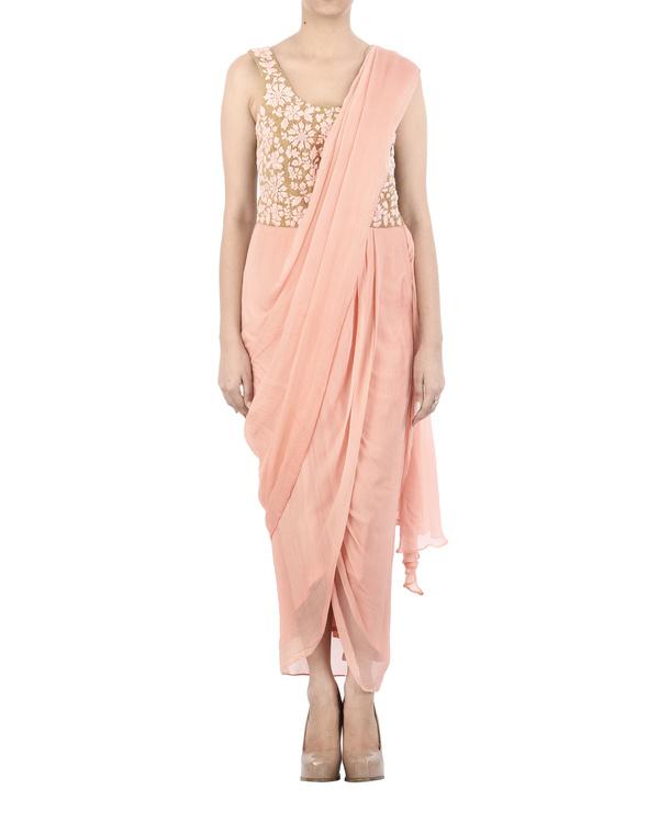 Pink and Mustard dhoti dress