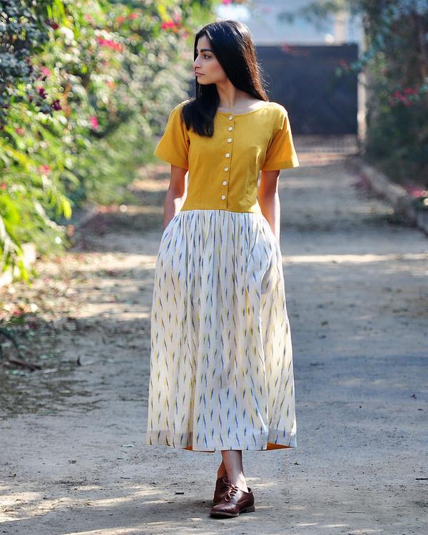 Marigold shift dress
