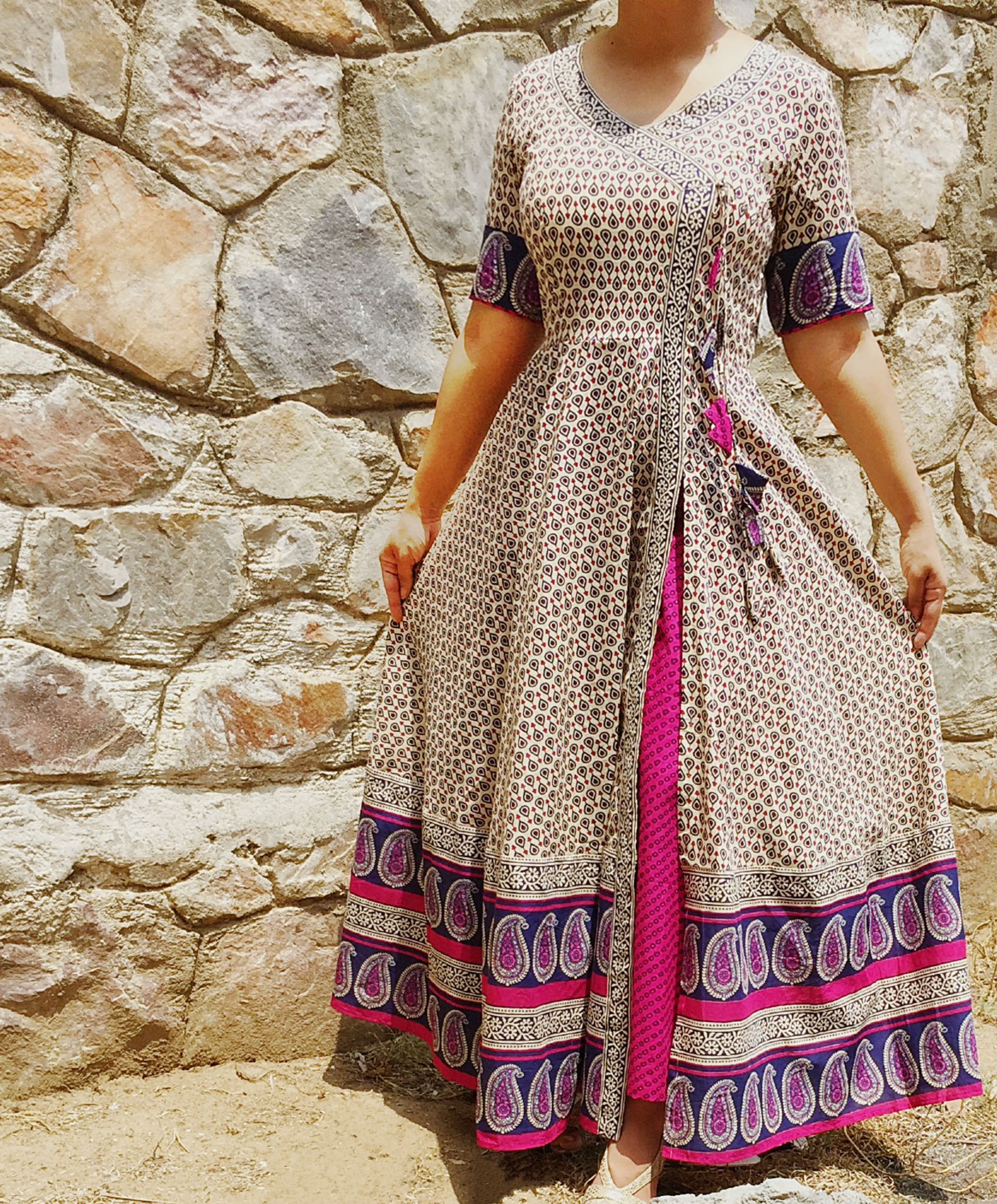 set of angrakha with palazzo pants