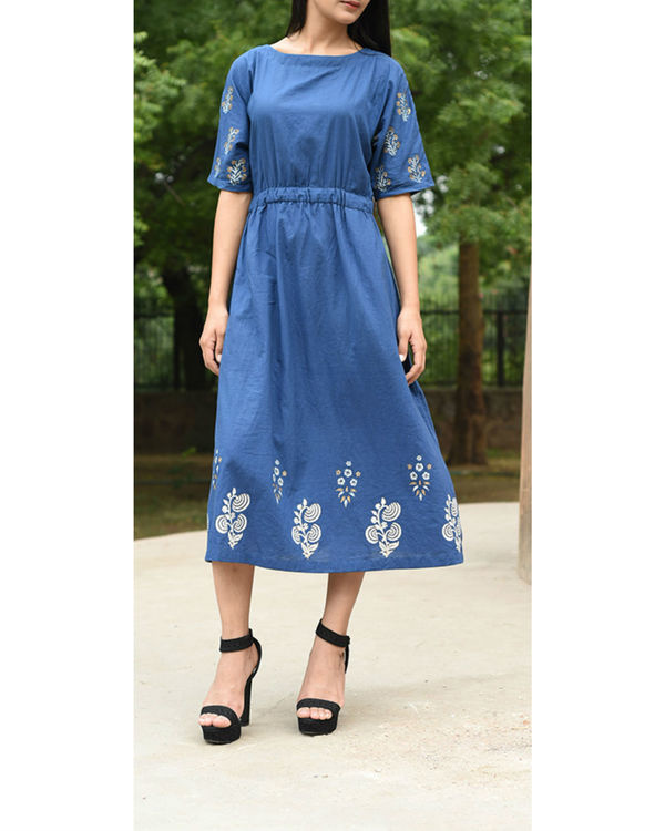 Blue brunch dress