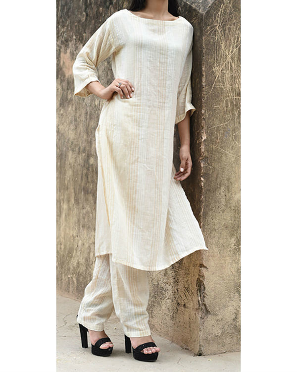Beige khadi shift tunic
