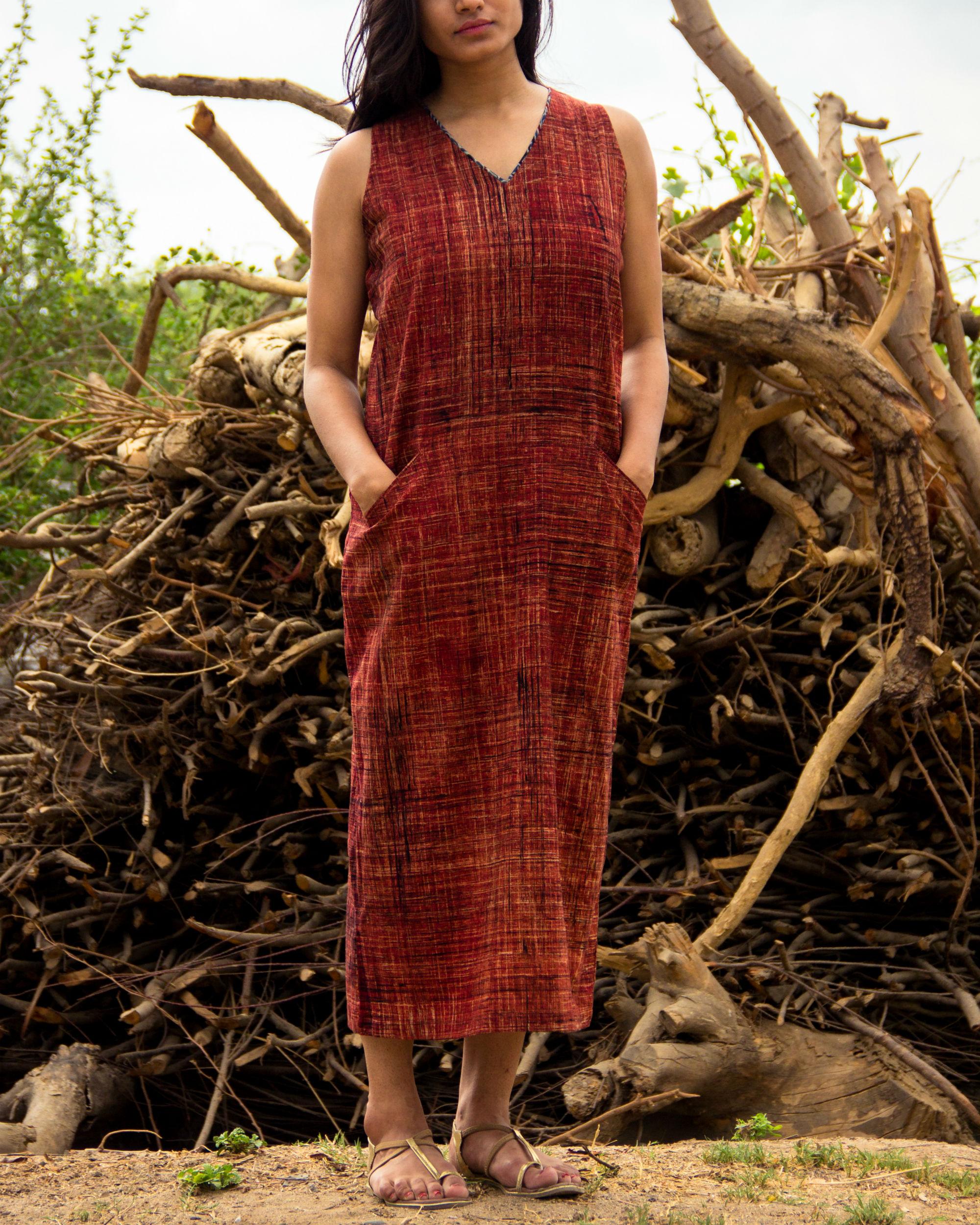Brown ankle length dress